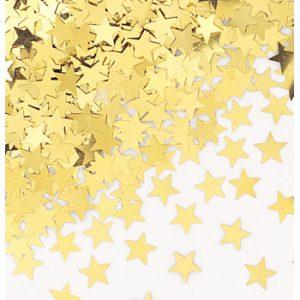 Guld bord konfetti