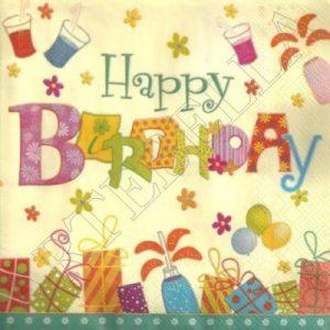 Happy Birthday servietter