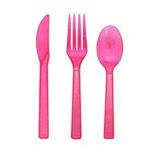 Pink plastik sæt