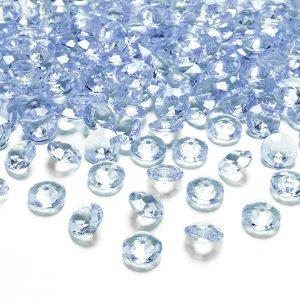 Lyseblå borddiamanter