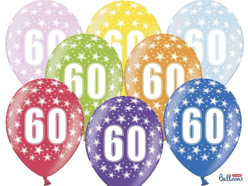 60 års dag Balloner til 60 års Fødselsdag i forskellige farver   kraftig kvalitet 60 års dag