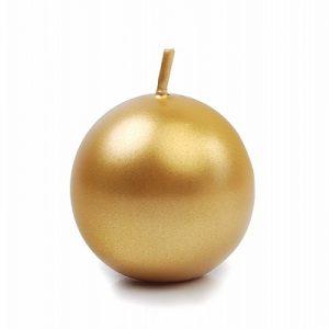 Guldfarvet kuglelys