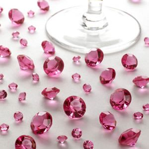Hot pink borddiamanter