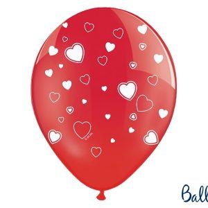 Rød ballon hjerter