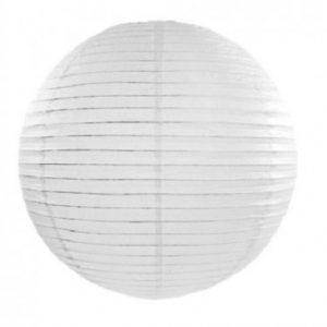 Hvid rispapirlampe
