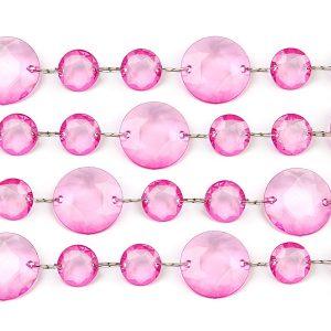 Pink dekorationskæde