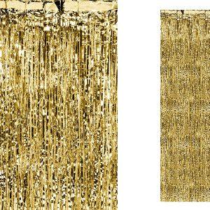 Guldfarvet gardin