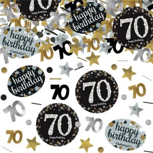 70 års konfetti