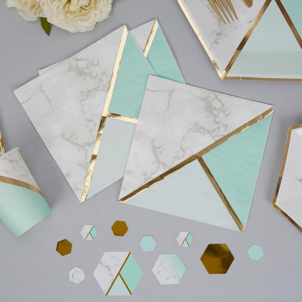 Servietter marmor print