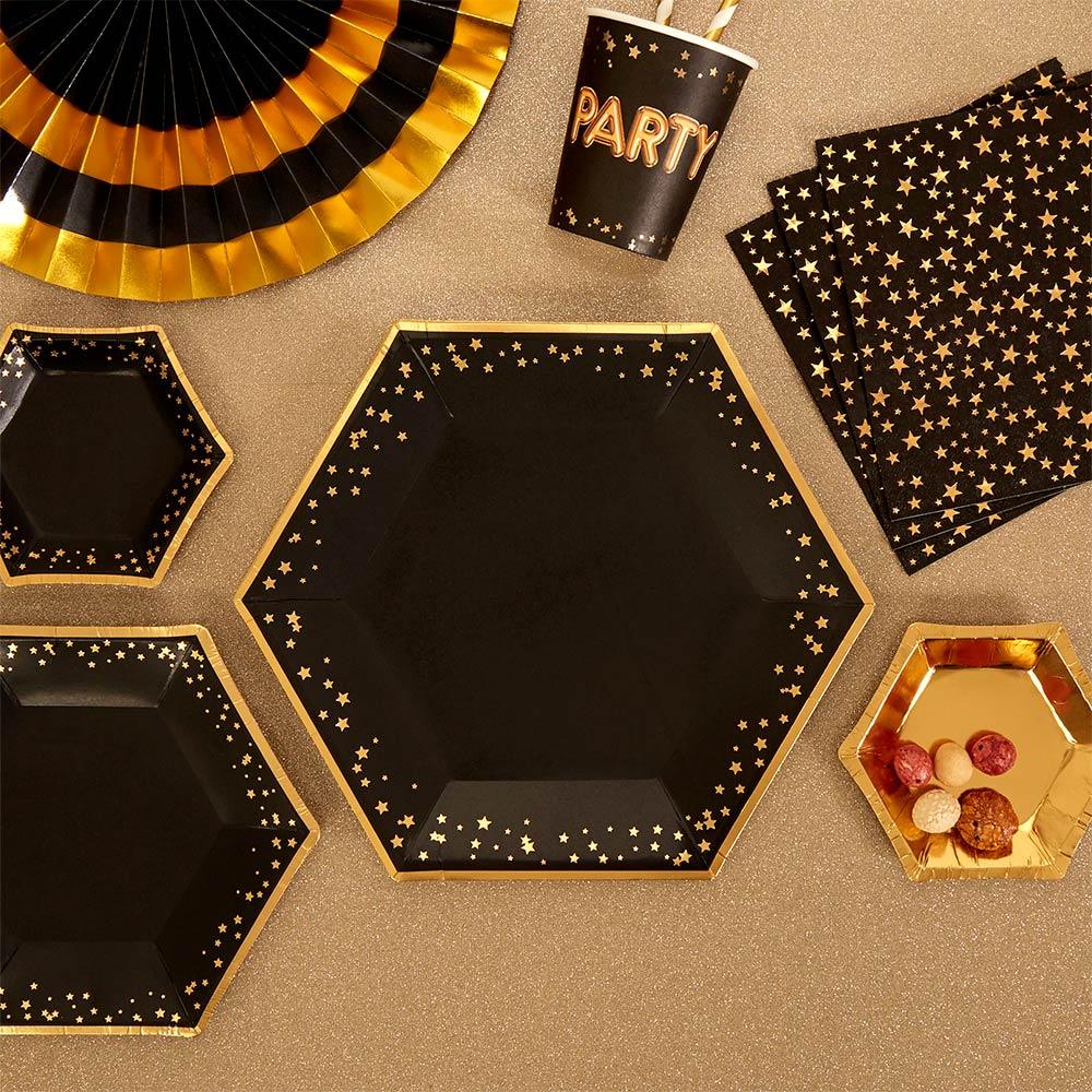 Sekskantede tallerkener