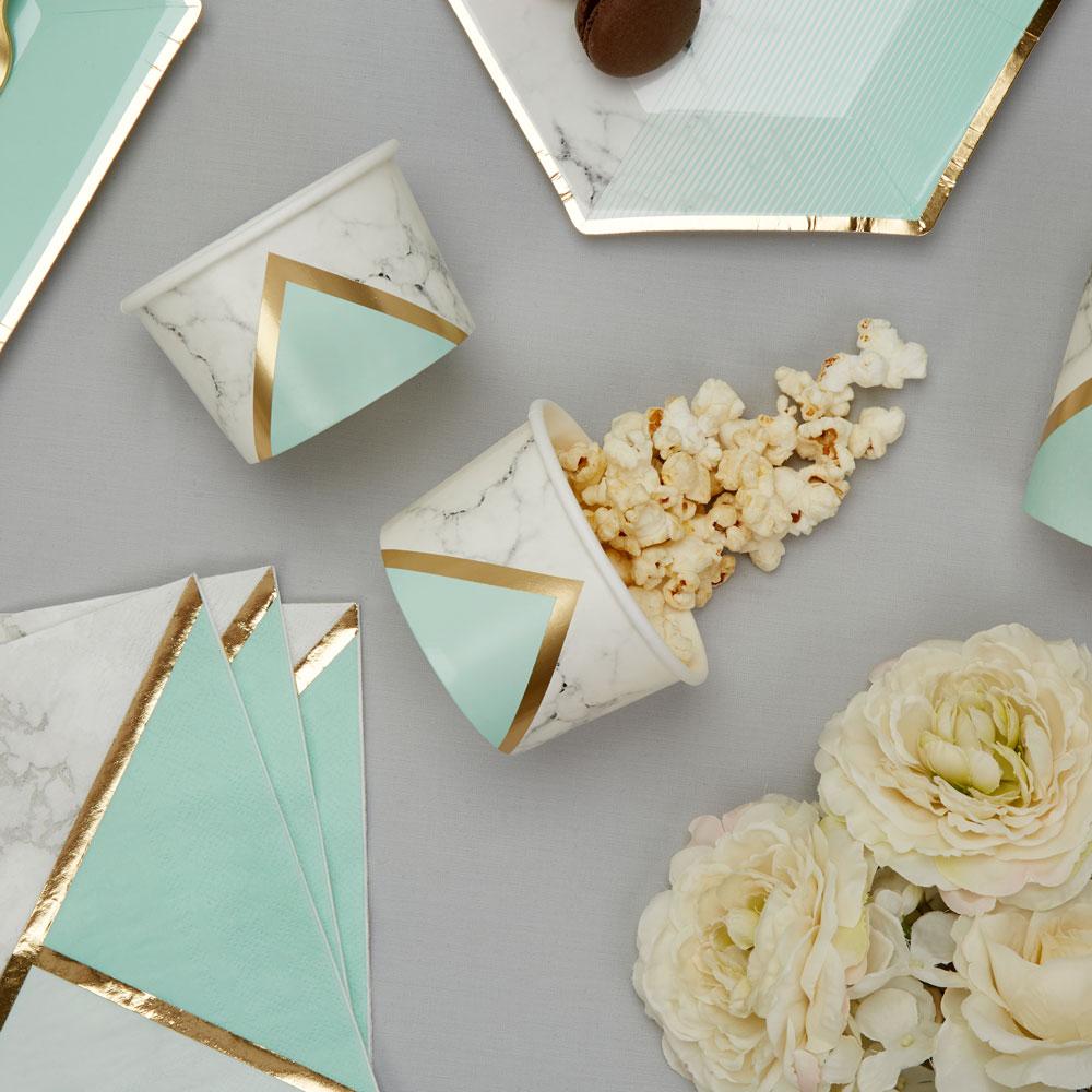 Slikskåle med marmor print