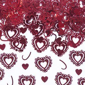 Hjerteformede konfetti