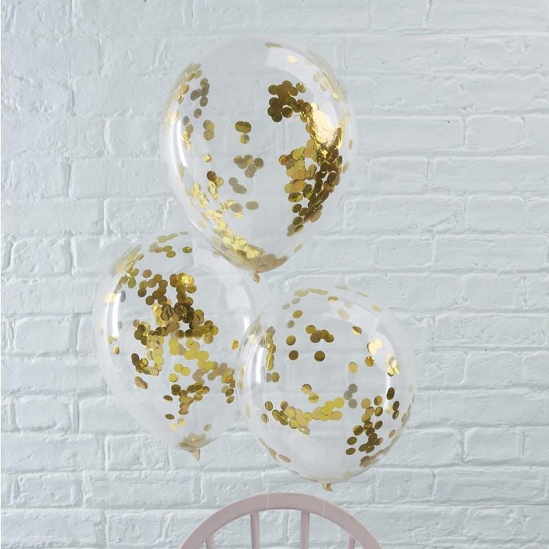 WOW konfetti ballon