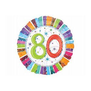 Folieballon 80 regnbue