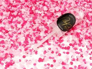 Pink push up konfettikanon