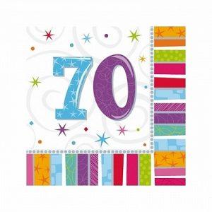 70 år servietter
