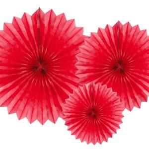 Røde dekorations rosetter