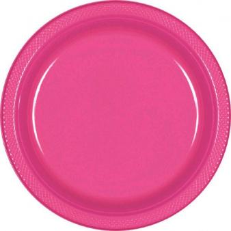 Bright pink tallerken