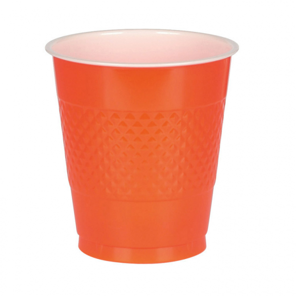 Orange plastik krus
