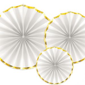 Dekorations rosetter med guldkant