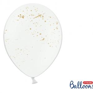 splash hvide balloner med guldprint