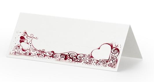 Bordkort med hjerte