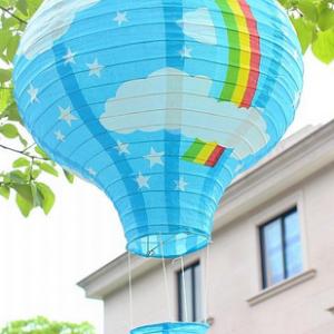 Lyseblåt luftballon