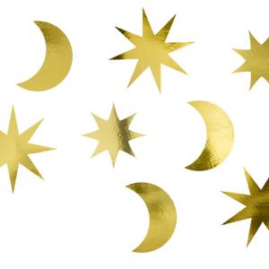 Stjerner og måner bordkonfetti