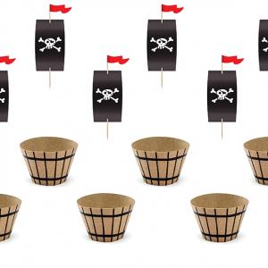 Pirat cupcake Kit
